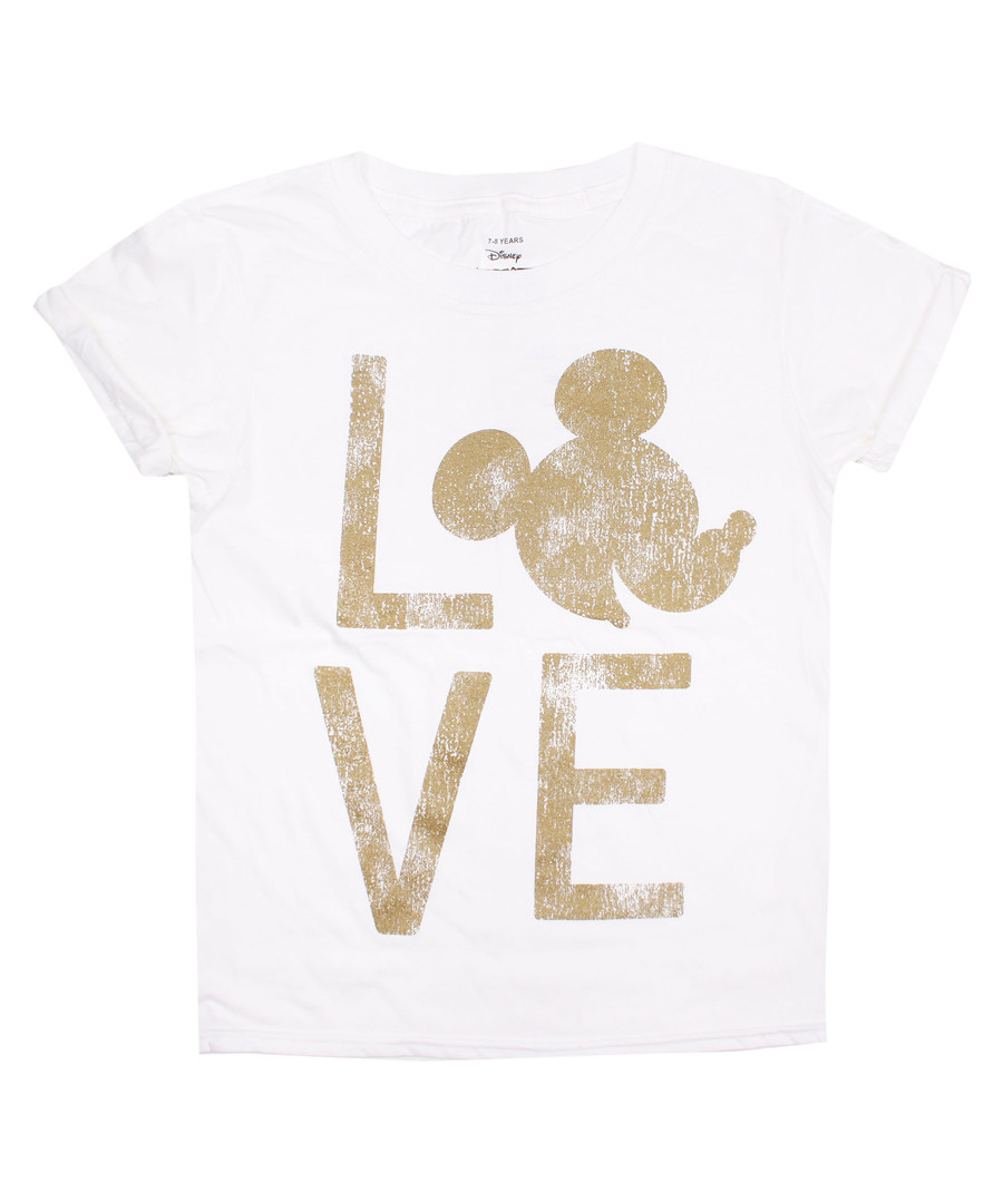 Mickey Love white pure cotton T-shirt Sale - Disney