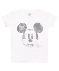Girls' Metallic Mickey white T-shirt