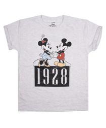 Girls' 1928 Mickey ash cotton T-shirt