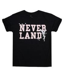 Girls' Neverland black cotton T-shirt