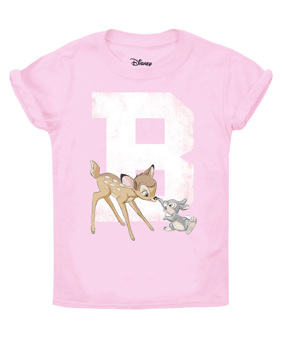 Girls' Bambi pink cotton T-shirt Sale - Disney
