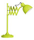 Lime green metal extendable table lamp  Sale - premier Sale