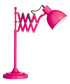 Pink metal extendable table lamp  Sale - premier Sale