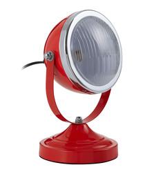 Jasper red & chrome spot table lamp