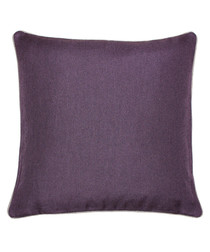 Bellucci damson velvet cushion 45cm
