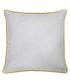 Bellucci grey velvet cushion 45cm Sale - riva paoletti Sale