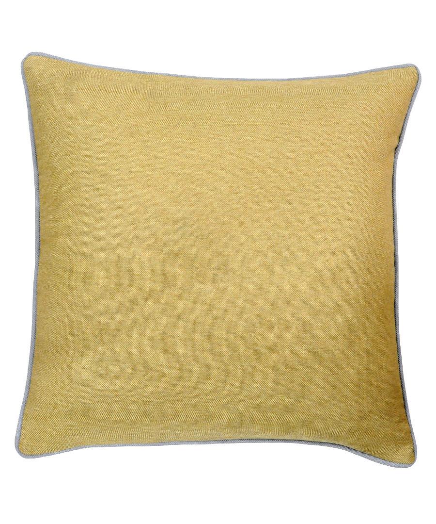 Bellucci ochre velvet cushion 45cm Sale - riva paoletti