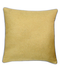 Bellucci ochre velvet cushion 45cm