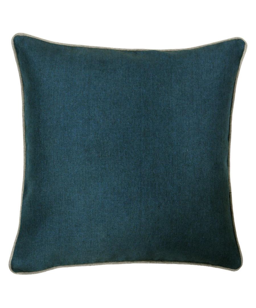 Bellucci petrol velvet cushion 55cm Sale - riva paoletti