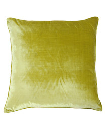 Luxe lime velvet cushion 55cm