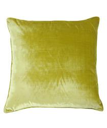 Luxe lime velvet cushion 55cm