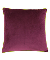 Meridian maroon velvet cushion 55cm