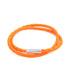 Pop Scoubidou orange leather bracelet Sale - Tateossian London Sale