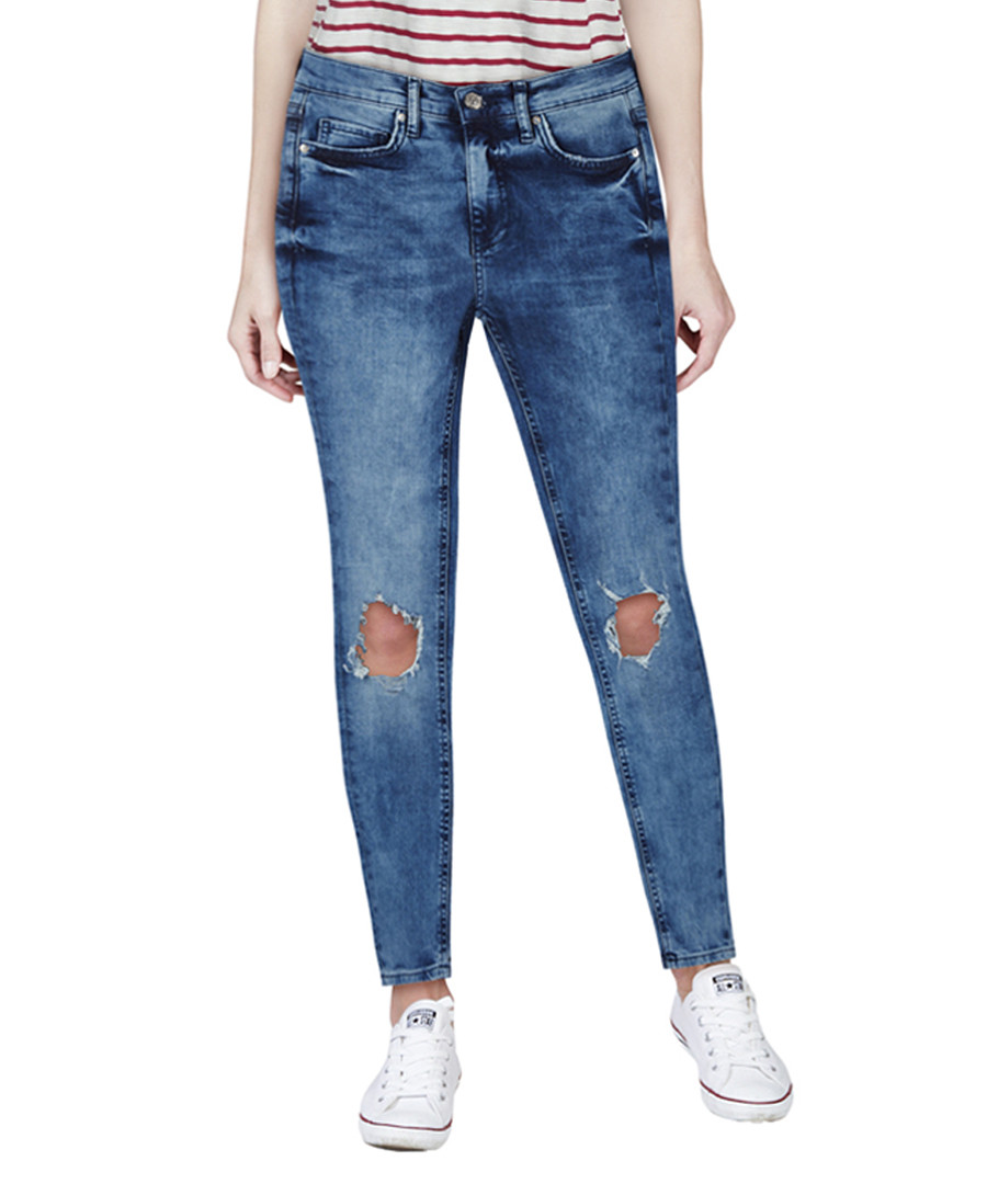 Blue high-rise skinny jeans Sale - Free People