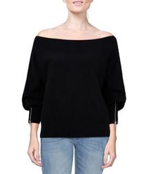Hide & Seek black pure cotton jumper