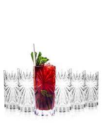 6pc Oasis crystal hi-ball glass set
