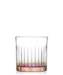 6pc Gipsy orange crystal whisky glasses