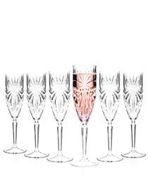 6pc Oasis crystal champagne flute set
