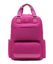 Legere pink multi-pocket backpack