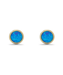 18ct gold-plated & opal stud earrings