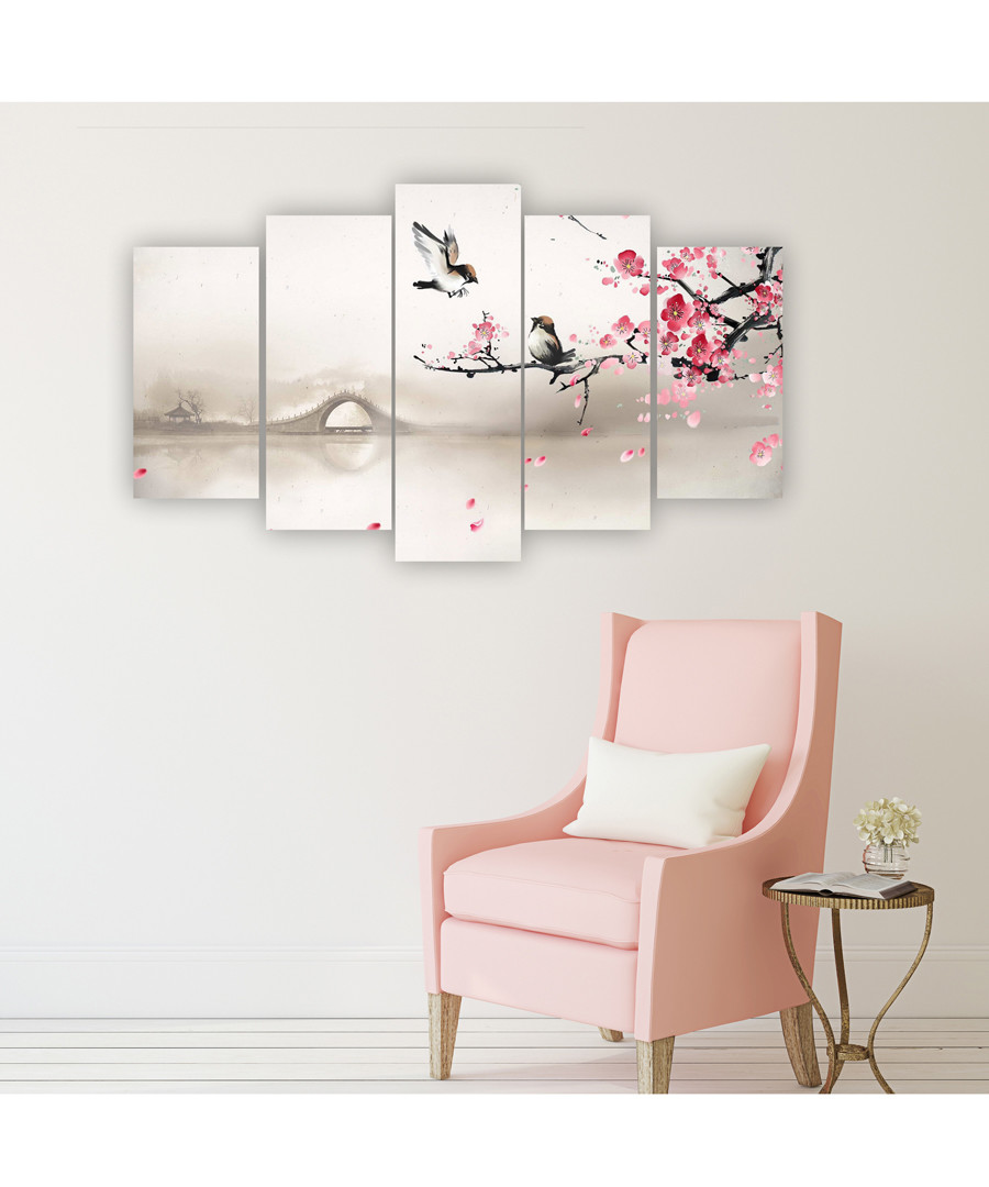 5pc Cherry Blossom wall art Sale - FIFTH