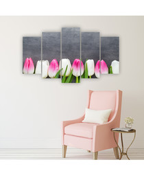 5pc Tulips wall art