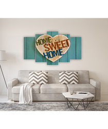 5pc Home Sweet Home wall art