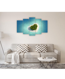 5pc Desert Island wall art