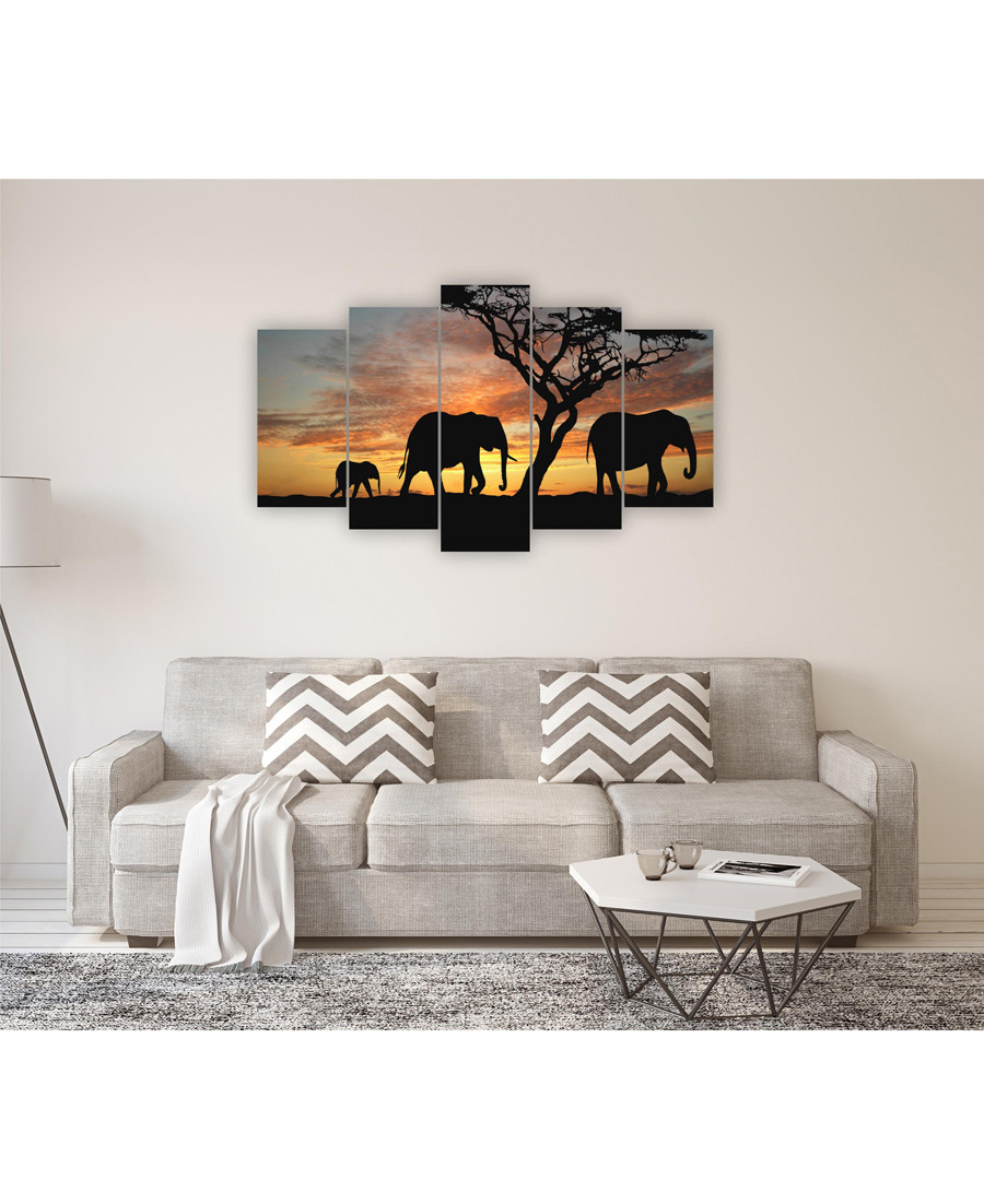 5pc Safari wall art Sale - FIFTH