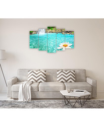 5pc Swimming Pool wall art