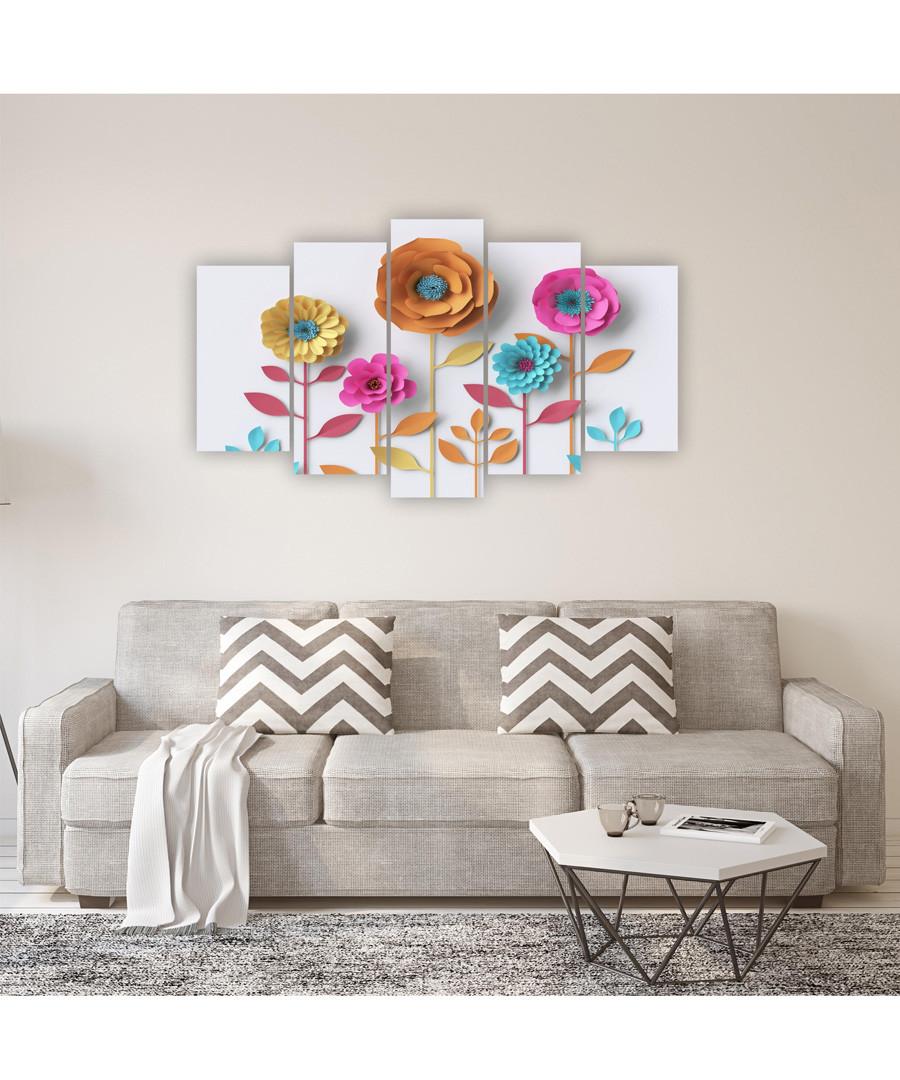 5pc Flowers wall art Sale - FIFTH