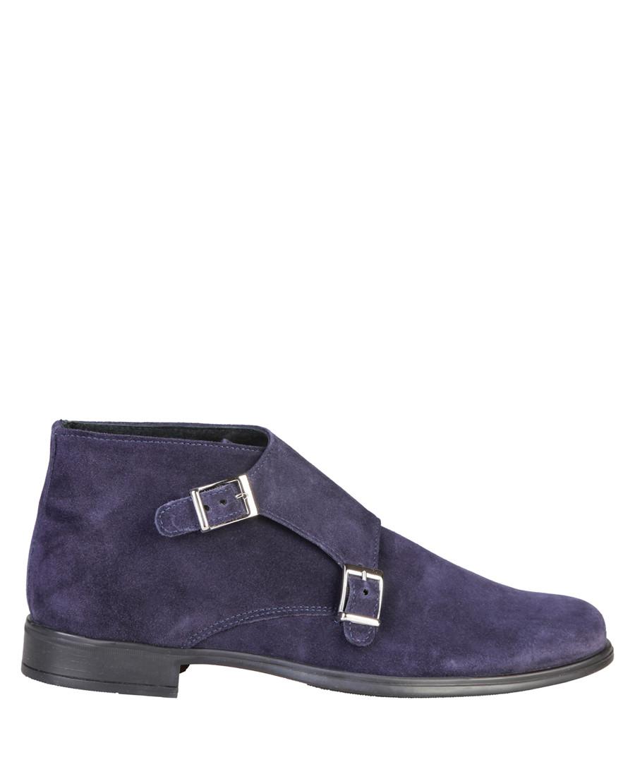 Ferdinand blue suede buckle ankle boots Sale - pierre cardin