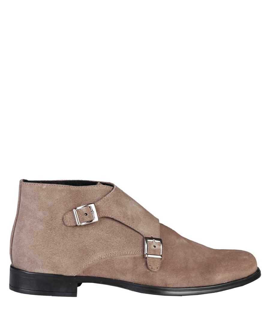 Ferdinand taupe suede buckle boots Sale - pierre cardin