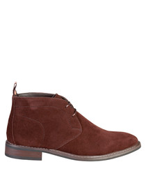 Tan lace-up desert boots