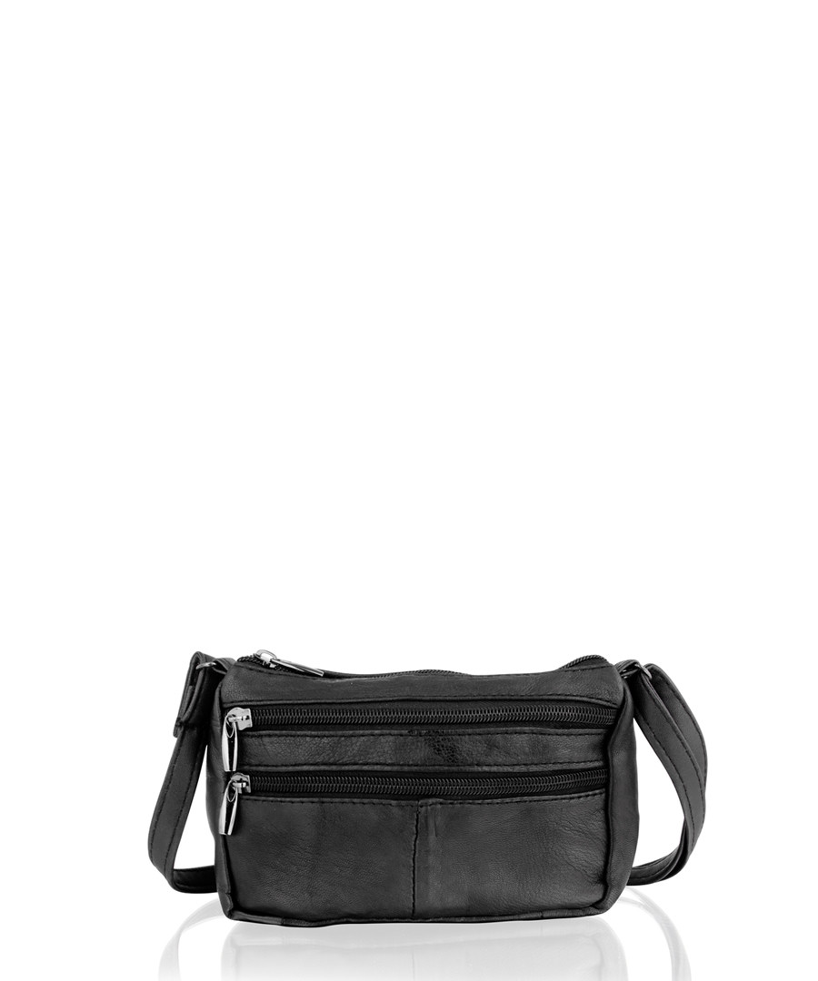 Black leather shoulder bag Sale - lorenz