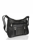Black leather zipped shoulder bag Sale - lorenz Sale