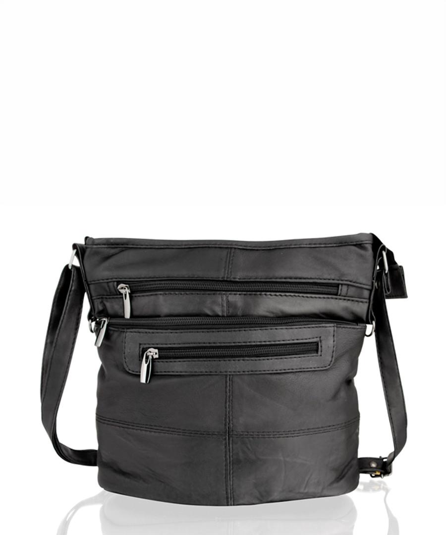 Black leather shoulder bag Sale - woodland leathers