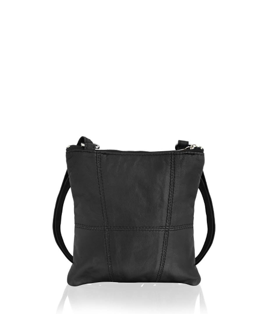 Black leather cross body bag Sale - lorenz