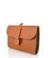 Tan leather buckle detail pouch Sale - woodland leathers Sale