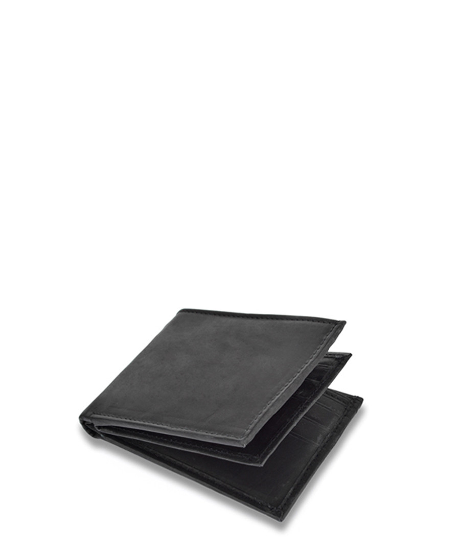 Black leather book wallet Sale - woodland leather