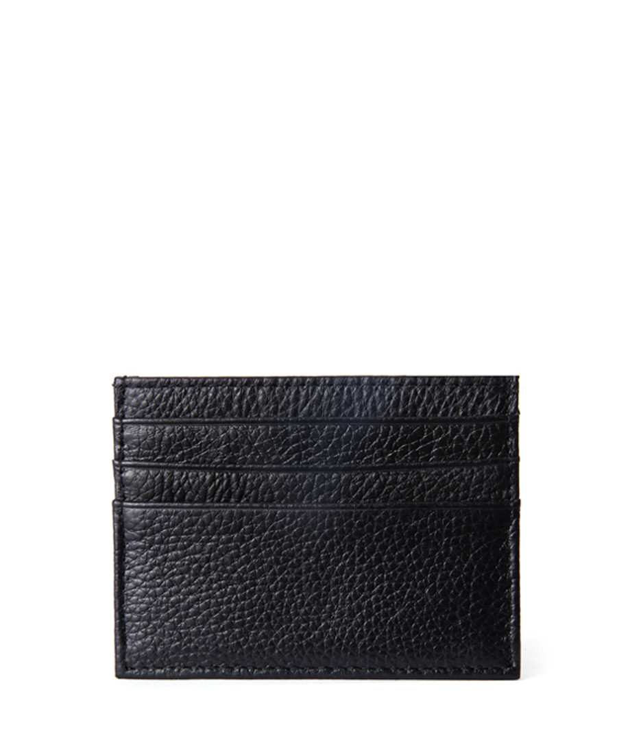 Black leather credit card holder Sale - hautton