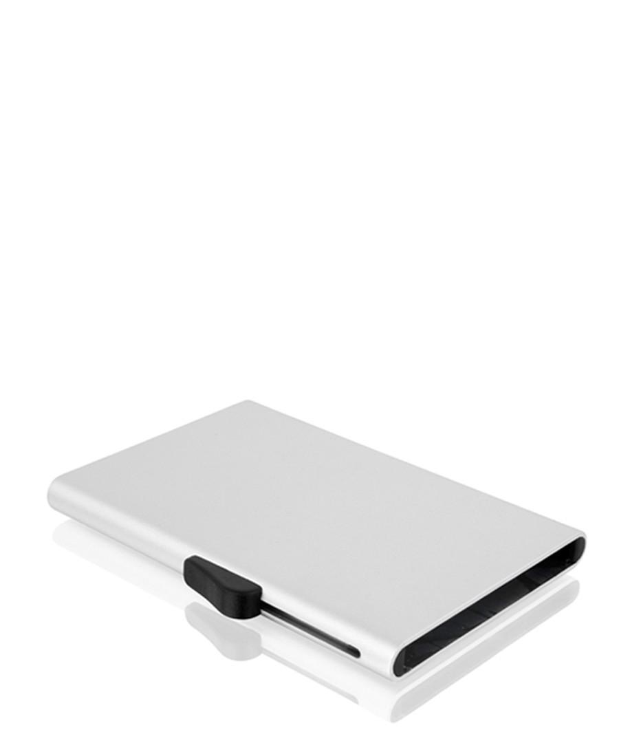Silver-tone aluminium card wallet Sale - c-secure