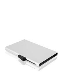Silver-tone aluminium card wallet