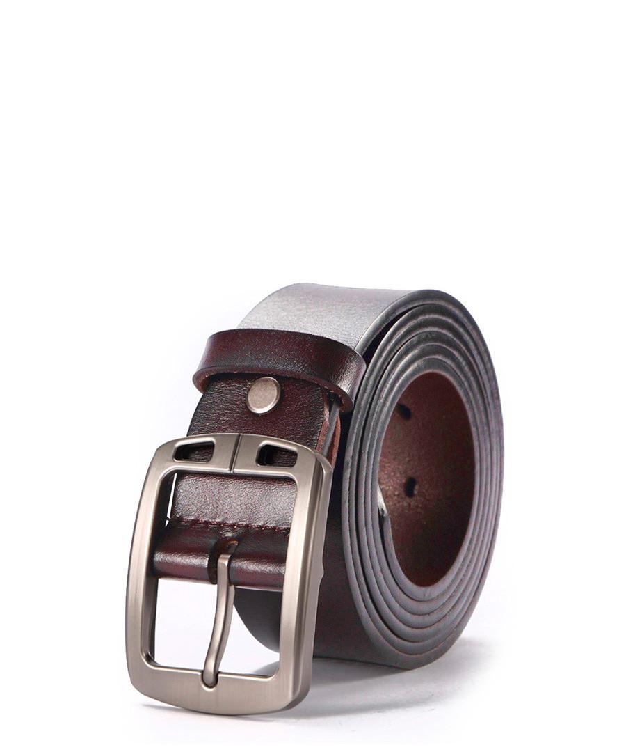Men's Brown leather adjustable belt Sale - hautton