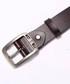 Men's Brown leather adjustable belt Sale - hautton Sale