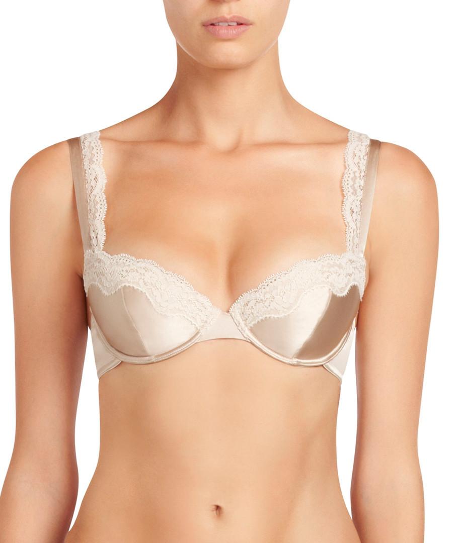 Clara Whispering rose silk contour bra Sale - stella mccartney