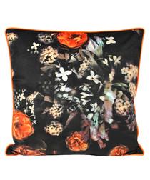 Moonflower multi-coloured cushion