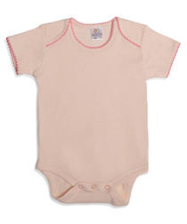 Girl's coral pure cotton bodysuit