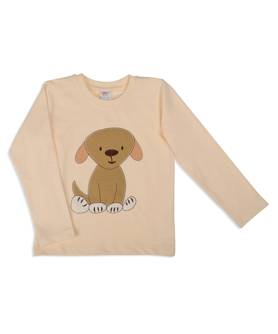 Unisex peach pure cotton dog jumper Sale - Rosie & Leo