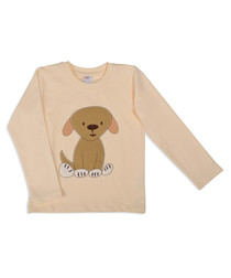 Unisex peach pure cotton dog jumper